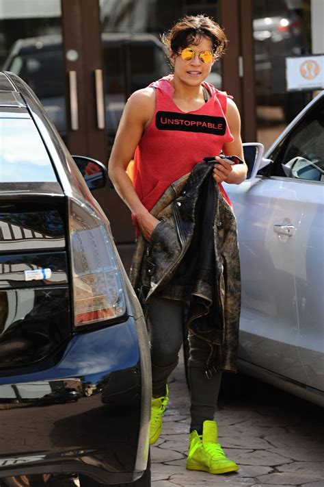 michelle rodriguez workout michelle rodriguez after her workout in los angeles