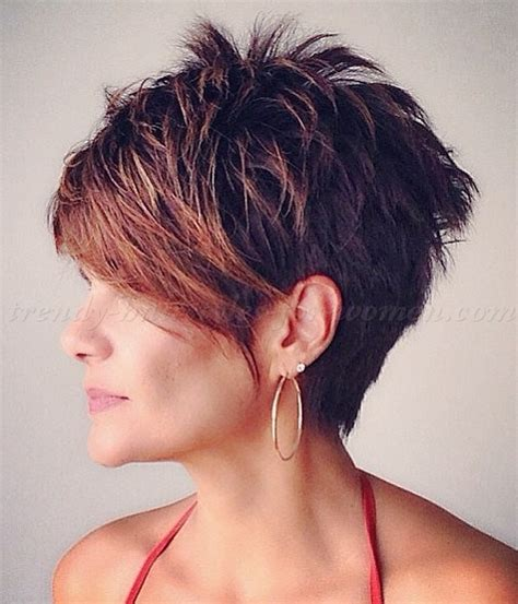 Short Pixie Styles With Longs Fringes Or Bangs | short hairstyles with long bangs short hair long fringe