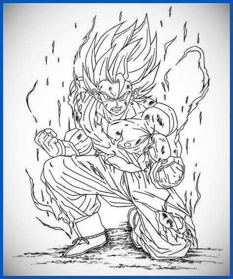 imagenes para colorear a dragon ball z geniales dibujos para colorear e imprimir de dragon ball z
