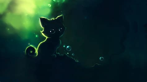wallpaper cat night awesome wallpaper 1366x768 56906