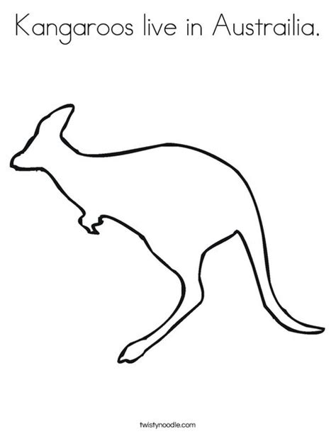printable images of kangaroos kangaroos live in austrailia coloring page twisty noodle