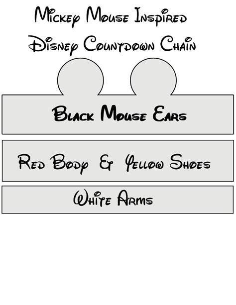 diy disney countdown chain mickey mouse