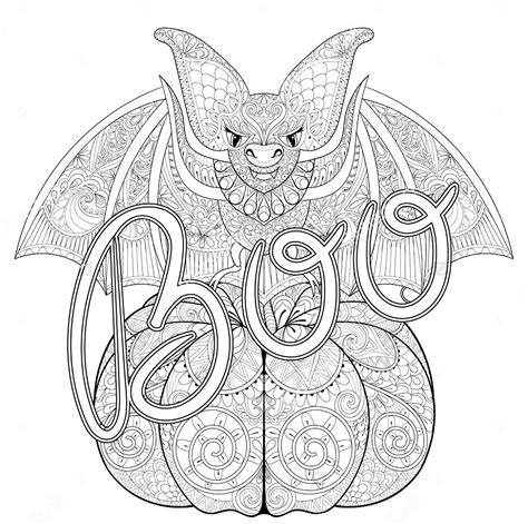 halloween zentangle bat halloween coloring pages for