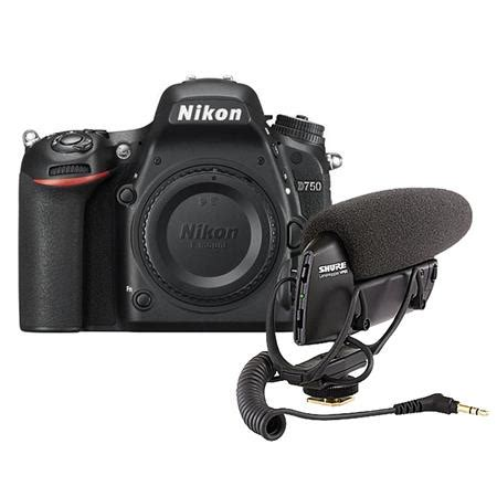 nikon d750 dslr body only camera with shure vp83