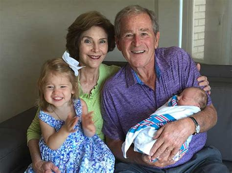 george w bush birth jenna bush hager gives birth to second child with husband