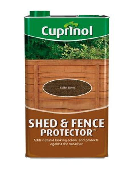 Shed And Fence Protector by Homebase Cuprinol Shed And Fence Protector Golden