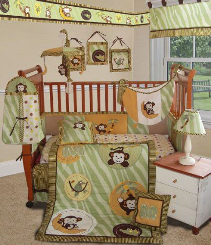 Monkey Crib Bedding Boy Deals 2012 On Custom Baby Bedding Jungle Monkey Green 15 Pcs Crib Bedding