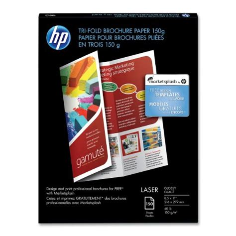 Hp Tri Fold Brochure Template by Hp Tri Fold Color Laser Glossy Brochure Paper 150 Sheets