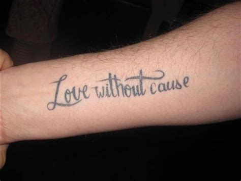 small love quote tattoos quotes without cause models designs