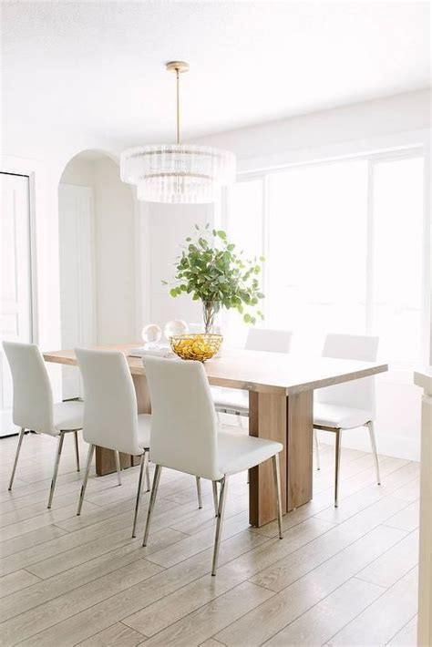 modern white dining room table 25 best ideas about leather dining chairs on pinterest