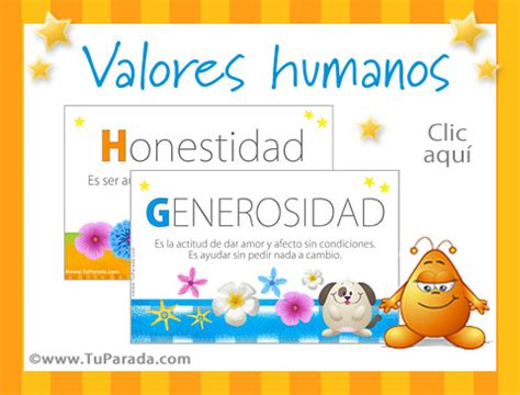tarjetas de valores humanos, valores, educación en valores