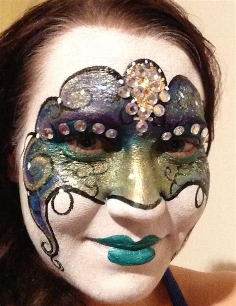 Masker Airbrush masquerade mask paint