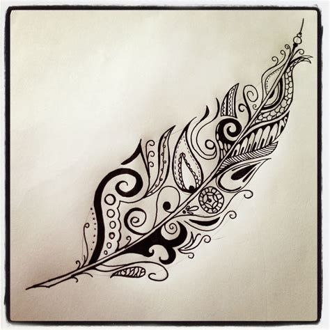 tribal feather tattoo designs polynesian feather for my polynesian