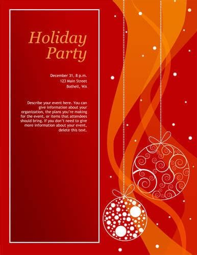 holiday party invite template 14 free diy printable