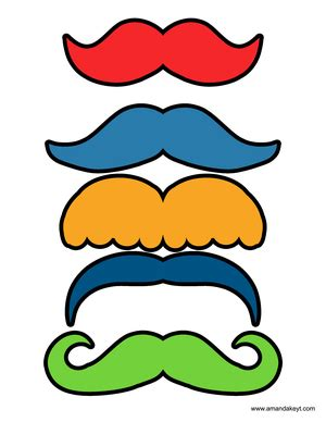 printable monster photo booth props mustaches from monsters of sesame street inspired