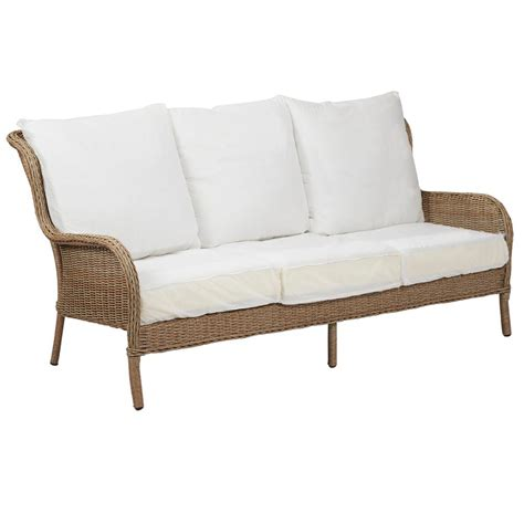 hton bay wicker loveseat lemon grove patio furniture outdoor furniture for small