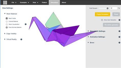 origami simulator 現実には不可能なレベルで複雑な折り紙を3dモデルで簡単にシミュレートできるウェブアプリ origami