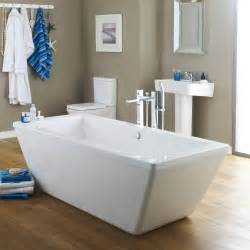 trick  double ended square freestanding bath nfb