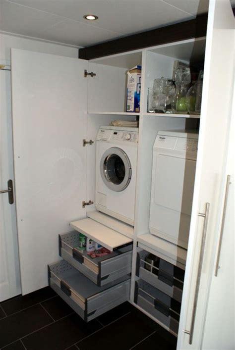 lade da terra design wasmachine en droger op ooghoogte met eronder lades