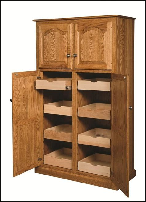 Amish Oak Pantry Cabinet Pantry : Home Design Ideas