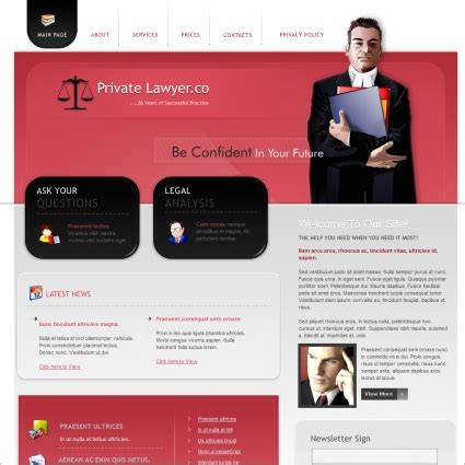 Private Lawyer Co Template Free Website Templates In Css Html Js Format For Free Download 163 Attorney Website Templates