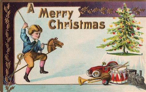 printable victorian christmas cards victorian christmas card boy with toys the graphics fairy