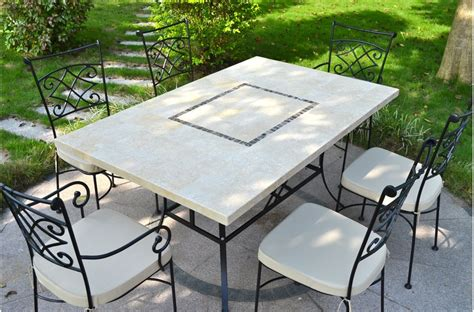 table jardin en monte carlo table de jardin 160x100 en mosa 239 que de marbre naturelle