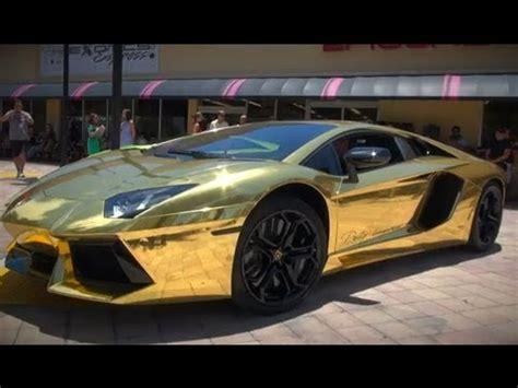 24k Gold Lamborghini Lamborghini Aventador Lp 700 4 24k Gold Supercar 2013