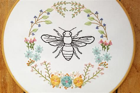 pattern bee vintage embroidery 10 bee and honeycomb themed hand embroidery patterns