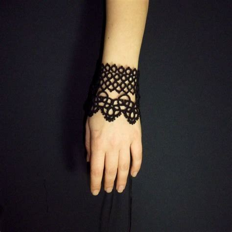 victorian lace tattoo cuff for style lace cuff bracelet