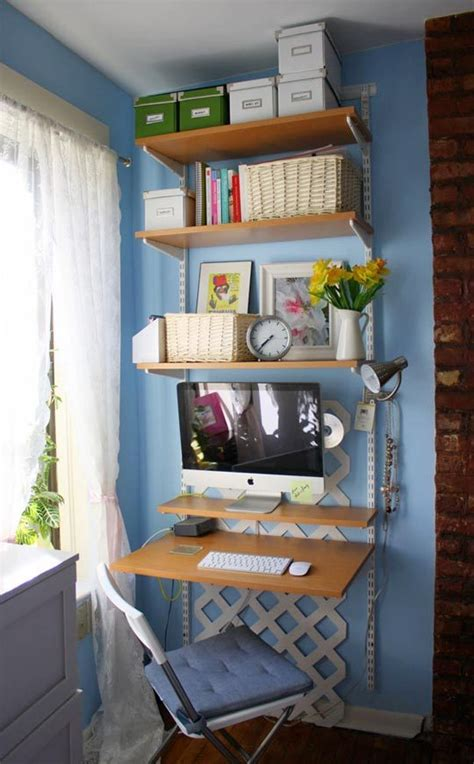 think vertical for a space saving home office apartment