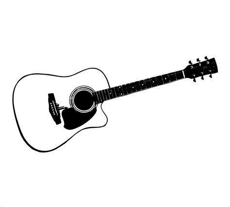 Guitar Clipart Outline by Guitar Outline Clipart Black And White Clipart Panda Free Clipart Images