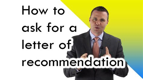 How To Ask For A Letter Of Recommendation Youtube How To Ask For A Testimonial From A Client Template