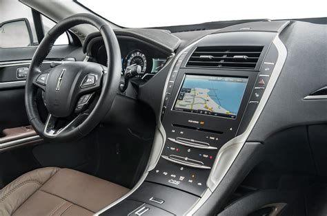 lincoln interior 2014 lincoln mkz hybrid first test motor trend