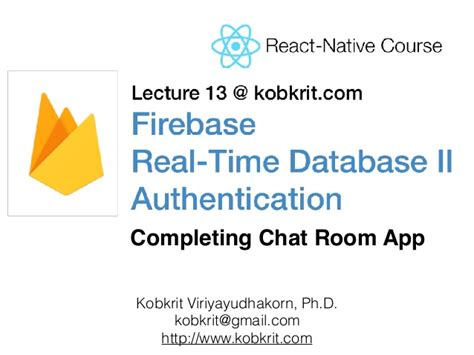 react native firebase tutorial react native firebase realtime database authentication