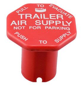 Trailer Air Supply Knob by 298817 By Haldex Bendix 174 Trailer Air Supply Knob For