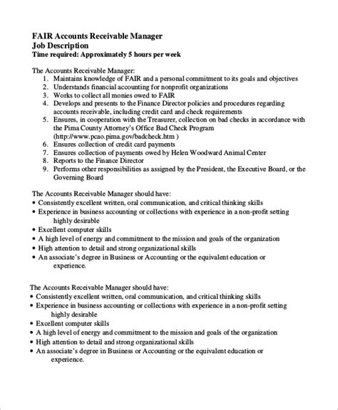 Accounts Payable Manager Description by Sle Account Manager Description 7 Exles In Pdf