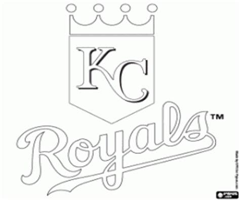 coloring pages kansas city royals mlb logos coloring pages printable 2