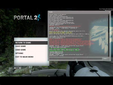 portal 2 console commands how to enable the developer console on portal 2