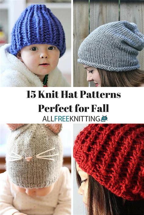 all free knitting patterns 15 knit hat patterns for fall allfreeknitting