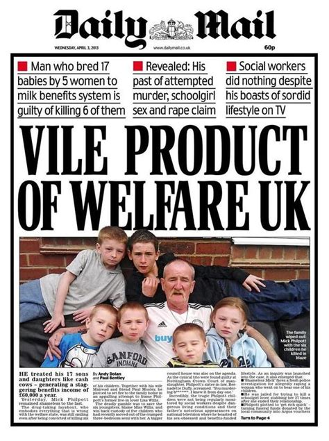 daily mail vice united states daily mail mick philpott welfare uk front page sparks