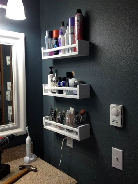 ikea spice rack and mini jars for inside of pantry closet ikea bekvam spice rack in the bathroom i especially like