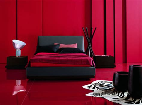 black and red bedrooms modern black furniture in red room design bookmark 13666