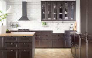 Ikea Kitchen Cabinets Solid Wood Ikea Black Kitchen Cabinets Home Design Inspiraion Ideas