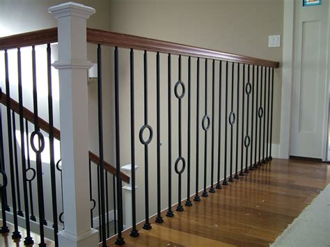 Metal Stair Banisters by Wood Staircases With Iron Balusters