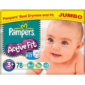 Jumbo Fit pers active fit size 3 4 9kg jumbo pack 78 per pack