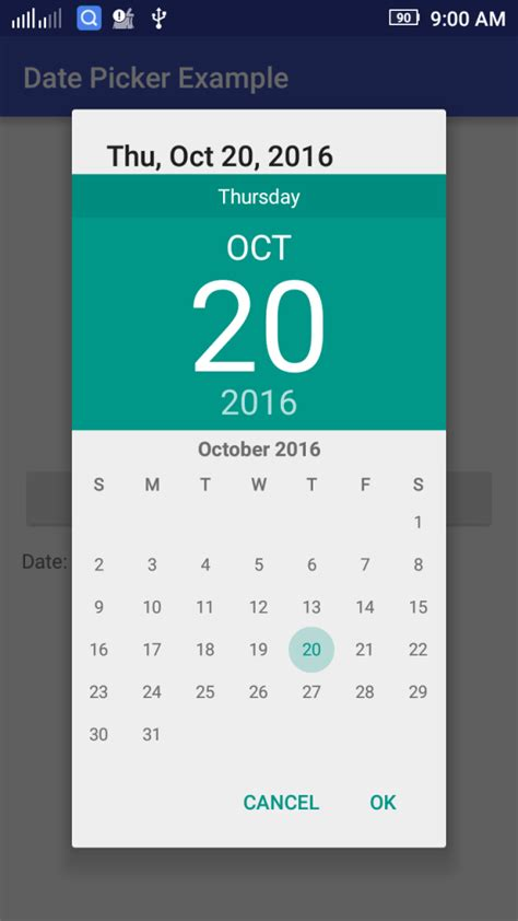 android datepicker android date picker exle the programmer