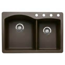 Blanco Undermount Kitchen Sink Shop Blanco 22 In X 33 In Cafe Brown Basin Granite Drop In Or Undermount Kitchen