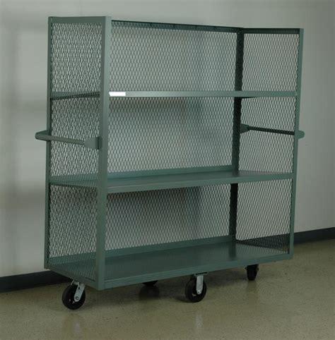 Cart Shelf by Stackbin Shelving Carts Mesh Sided Mobile Shelf Cart