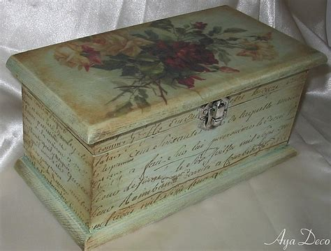 Decoupage A Box - decoupage box decoupage